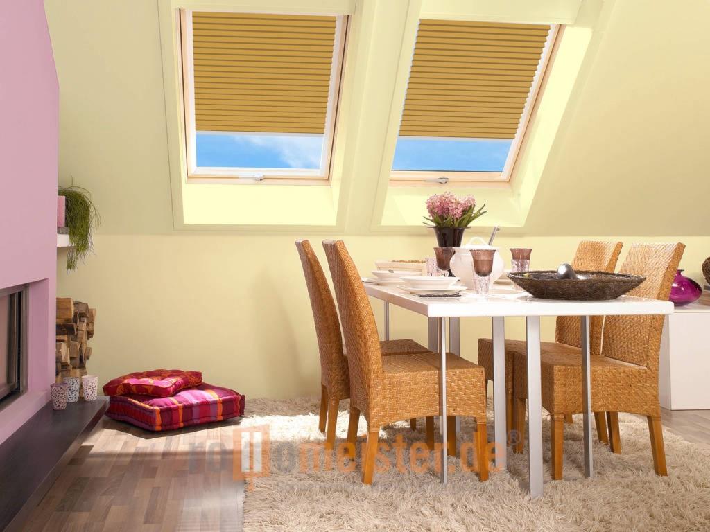 Plissee Ohne Bohren Fr Dachfenster Rollomeisterde