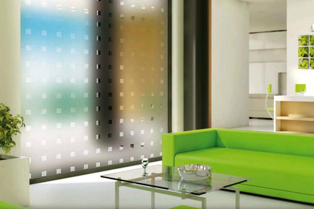 Sichtschutzfolie mit Muster