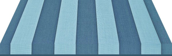 blau gestreifter Markisenstoff