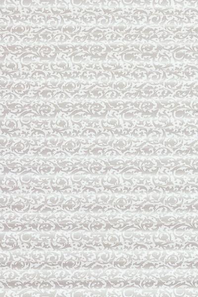 Plisseestoff mit weißem Muster