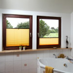 Badezimmerfenster Plissee