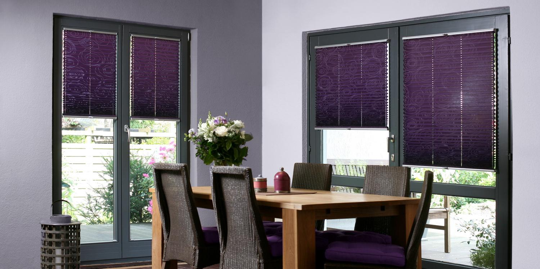 plissee faltstores online kaufen. Black Bedroom Furniture Sets. Home Design Ideas