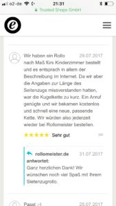 Kundenbewertung Rollo Kinderzimmer