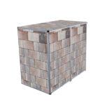 Muelltonnenbox Visualisierungen 2er 240l betonstein