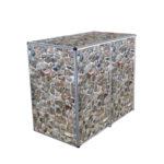 Muelltonnenbox Visualisierungen 2er 240l bruchstein