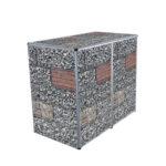 Muelltonnenbox Visualisierungen 2er 240l gabione_0324
