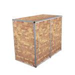 Muelltonnenbox Visualisierungen 2er 240l ziegelmauer
