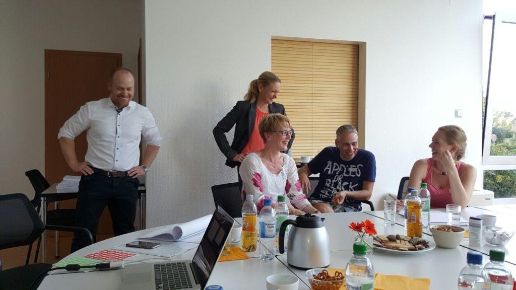 Eine Kurze Pause bei dem Open Innovation Workshop von Rollomeister