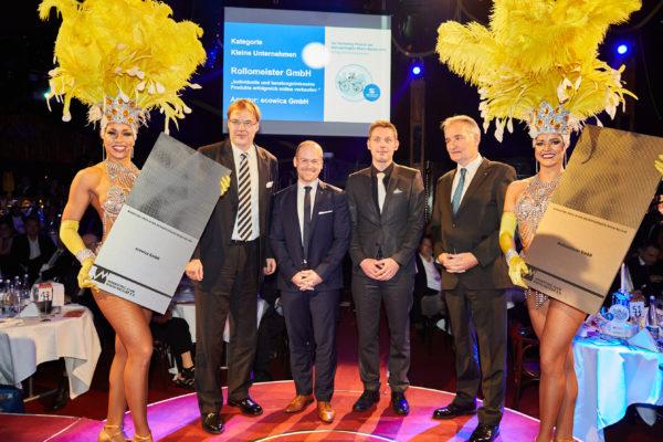 Preisverleihung Rollomeister GmbH zusammen mit ecovica GmbH