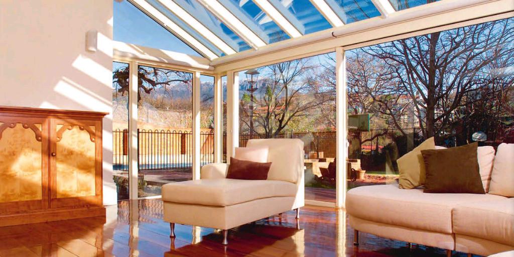 Die Glasfolie macht Ihren Wintergarten energiesparend aber auch tageslichtdurchflutet und offen