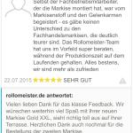 feedback Markisen Kunde