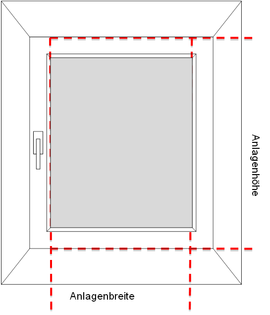 messanleitung plissee vs 2 auf dem fensterrahmen mit schmalem klemmtr ger slim. Black Bedroom Furniture Sets. Home Design Ideas