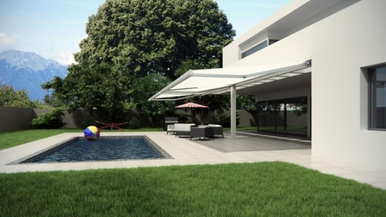 markise f r terrasse online kaufen. Black Bedroom Furniture Sets. Home Design Ideas