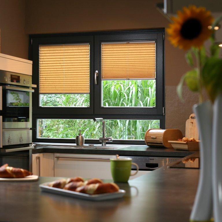 plissees für #küche und #bad | sonnenschutz-ideen für küche und