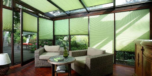dekorativer wintergarten sonnenschutz online kaufen. Black Bedroom Furniture Sets. Home Design Ideas