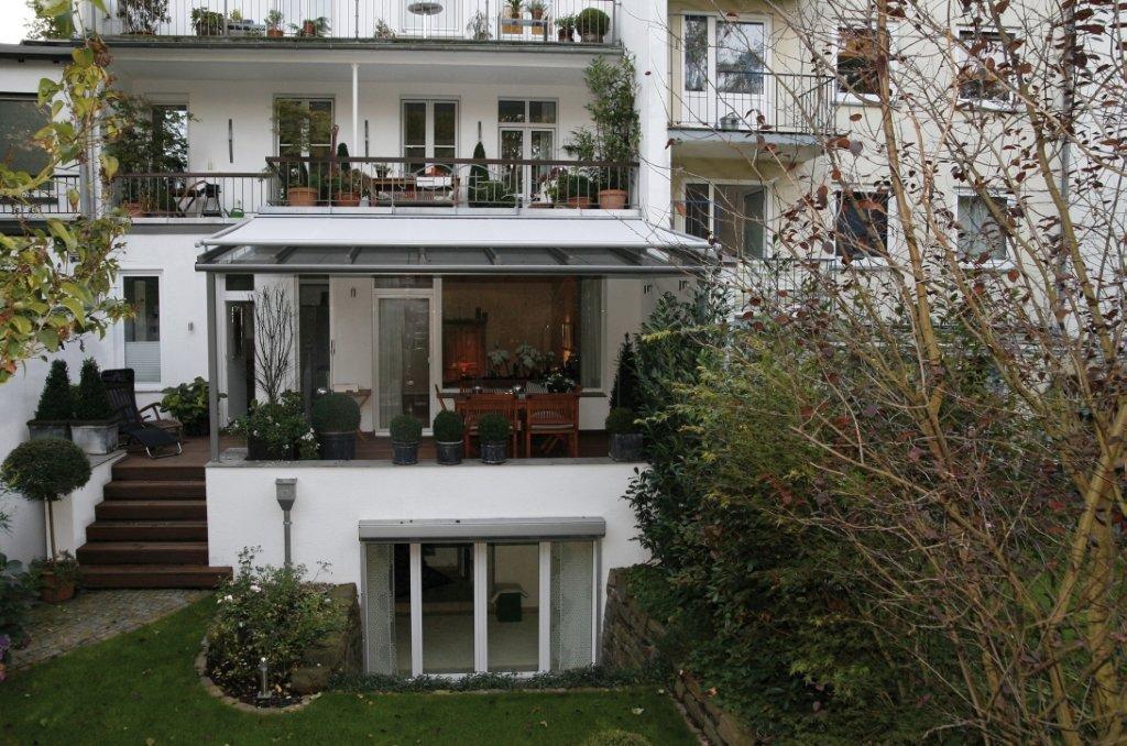 dekorativer wintergarten sonnenschutz. Black Bedroom Furniture Sets. Home Design Ideas